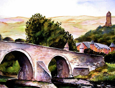 Art Print featuring the painting Stirling Bridge by Marti Green