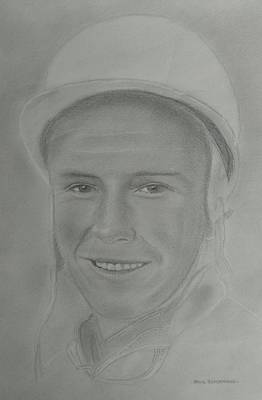 Stirling Moss Drawing - Stirling Moss by Paul Blackmore