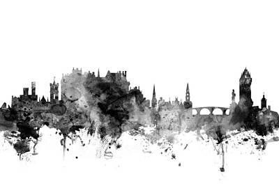 Digital Art - Stirling Scotland Skyline by Michael Tompsett