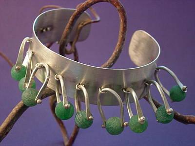 Sterling Silver Bracelet Jewelry - Stirrup Cuff Bracelet by Lynette Fast