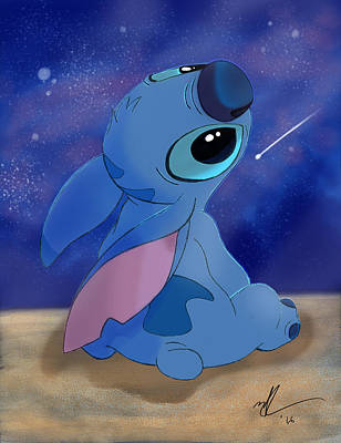 Animation Drawing - Stitch - The Night Sky by Nolan Taylor