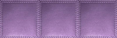 Mixed Media - Stitched  Leather Look Violet  Squares For Wall Decorations by Navin Joshi