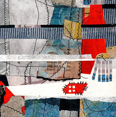 Mixed Media - Stitching Love And Life Together She Says  by Laura  Lein-Svencner