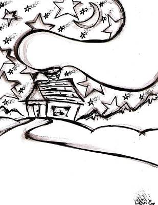 Austin Drawing - Stitchlip's House by Levi Glassrock