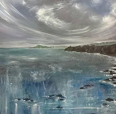 Painting - St.ives Coast Path, Cornwall  by Keran Sunaski Gilmore