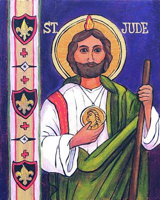 Wall Art - Painting - St.jude by Candy Mayer