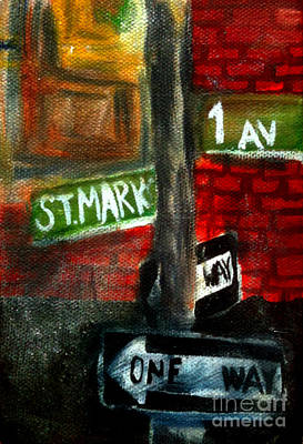 Packing Painting - St.marks Place by Simonne Mina