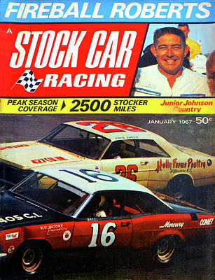 Photograph - Stock Car Racing 1967 by David Lee Thompson