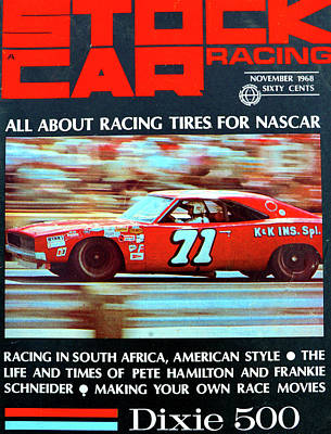 Photograph - Stock Car Racing 1968 by David Lee Thompson