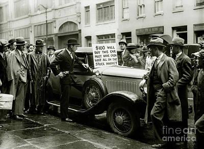 Flapper Photograph - Stock Market Crash by Jon Neidert