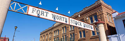 Worth Photograph - Stock Yards, Fort Worth, Texas by Panoramic Images