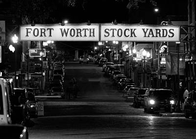 Photograph - Stock Yards Sign Bw 123015 by Rospotte Photography