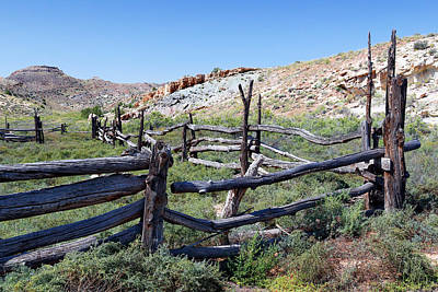 Photograph - Stockade At Wolfe Ranch by Nicholas Blackwell