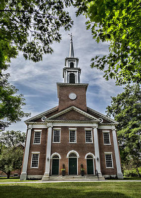 Stockbridge Congregational Church Art Print by Stephen Stookey