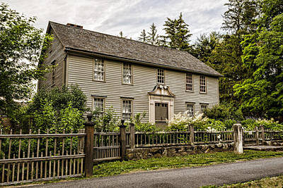 Colonial Architecture Photograph - Stockbridge Mission House by Stephen Stookey