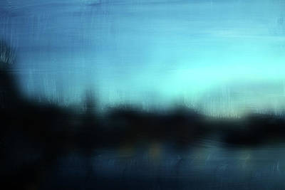Abstract Landscape Mixed Media - Stockholm Blue- Art By Linda Woods by Linda Woods