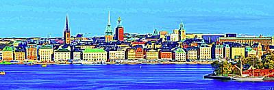 Digital Art - Stockholm by Bruce