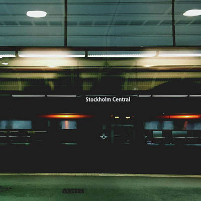 Stockholm Central- Photograph By Linda Woods Print by Linda Woods