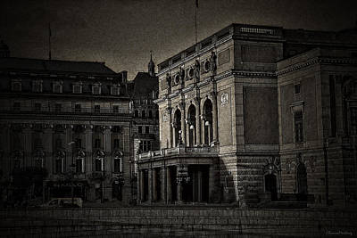 Sweden Digital Art - The Royal Swedish Opera by Ramon Martinez