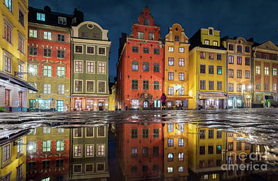 Photograph - Stockholm Gamla Stan At Night by JR Photography