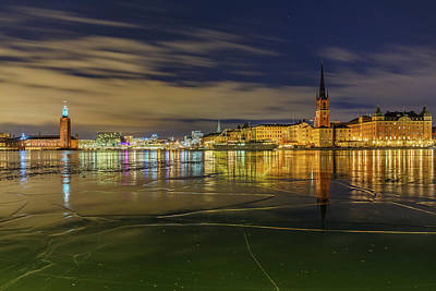 Photograph - Stockholm Ice Puzzle And Reflection by Dejan Kostic