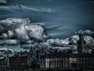 Stockholm Photograph - Gamla Stan Oscured By Clouds by Ramon Martinez