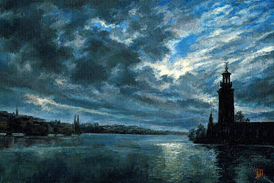 Landscape Painting - Stockholm by Leonid Polotsky