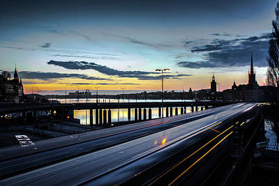 Art Print featuring the photograph Stockholm Night - Slussen by Nicklas Gustafsson