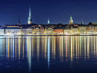 Photograph - Stockholm Old City Magic Quartet Reflection In The Baltic Sea by Dejan Kostic