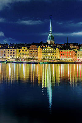 Photograph - Stockholm Old City Reflection In The Baltic Sea by Dejan Kostic