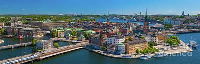 Sverige Photograph - Stockholm Panorama by Inge Johnsson