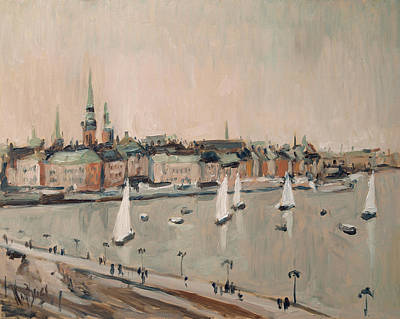 Painting - Stockholm Regatta by Nop Briex