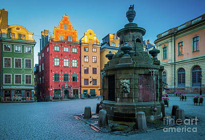 Nordic Photograph - Stockholm Stortorget by Inge Johnsson