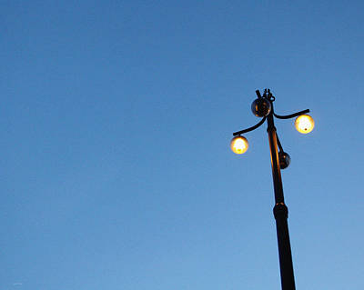 Royalty-Free and Rights-Managed Images - Stockholm Street Lamp by Linda Woods
