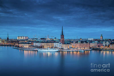 Photograph - Stockholm Twilight View by JR Photography