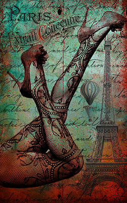 Digital Art - Stockings In Paris by Greg Sharpe