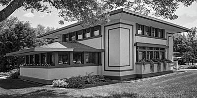 Stockman House - Frank Lloyd Wright - Black And White Art Print