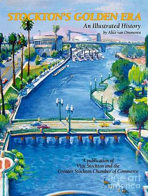 Infinity Pool Painting - Stockton S Golden Era by Vanessa Hadady BFA MA