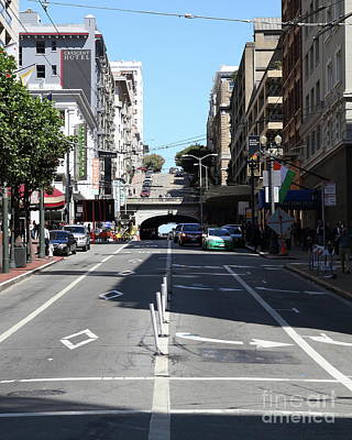 Photograph - Stockton Street Tunnel In San Francisco 7d7124 by San Francisco Art and Photography