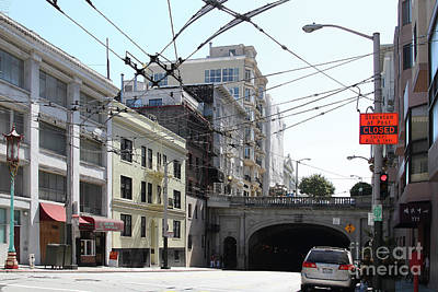 Photograph - Stockton Street Tunnel San Francisco California 7d7478 by San Francisco Art and Photography