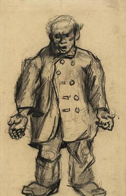 Stocky Man, 1885 01 Art Print by Vincent Van Gogh