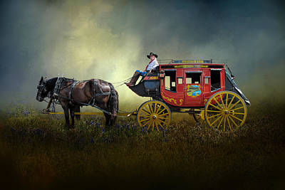 Photograph - Stockyards Stage Coach by David and Carol Kelly