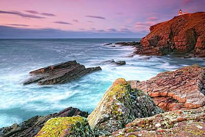 Photograph - Stoer Head Lighthouse At Dusk by Chris Puddephatt