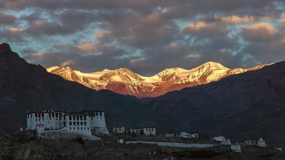 Photograph - Stok Range At Dawn, Stok, 2004 by Hitendra SINKAR