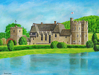 Wales Painting - Stokesay Castle - Shropshire by Ronald Haber