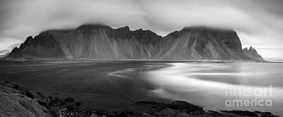 Stokksnes Iceland Bandw Art Print
