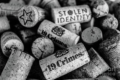 Photograph - Stolen Crimes - Corks by Colleen Kammerer