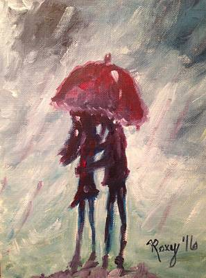 Red Umbrella Painting - Stolen by Roxy Rich