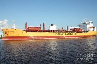 Photograph - Stolt Tanker by John Telfer