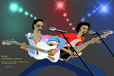 Rhythm And Blues Digital Art - Stomp-the Brothers Johnson by Marvin James